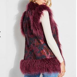 Guess Jacquee faux fur reversible vest